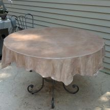 Concrete Tablecloth. Table With Ugly Top