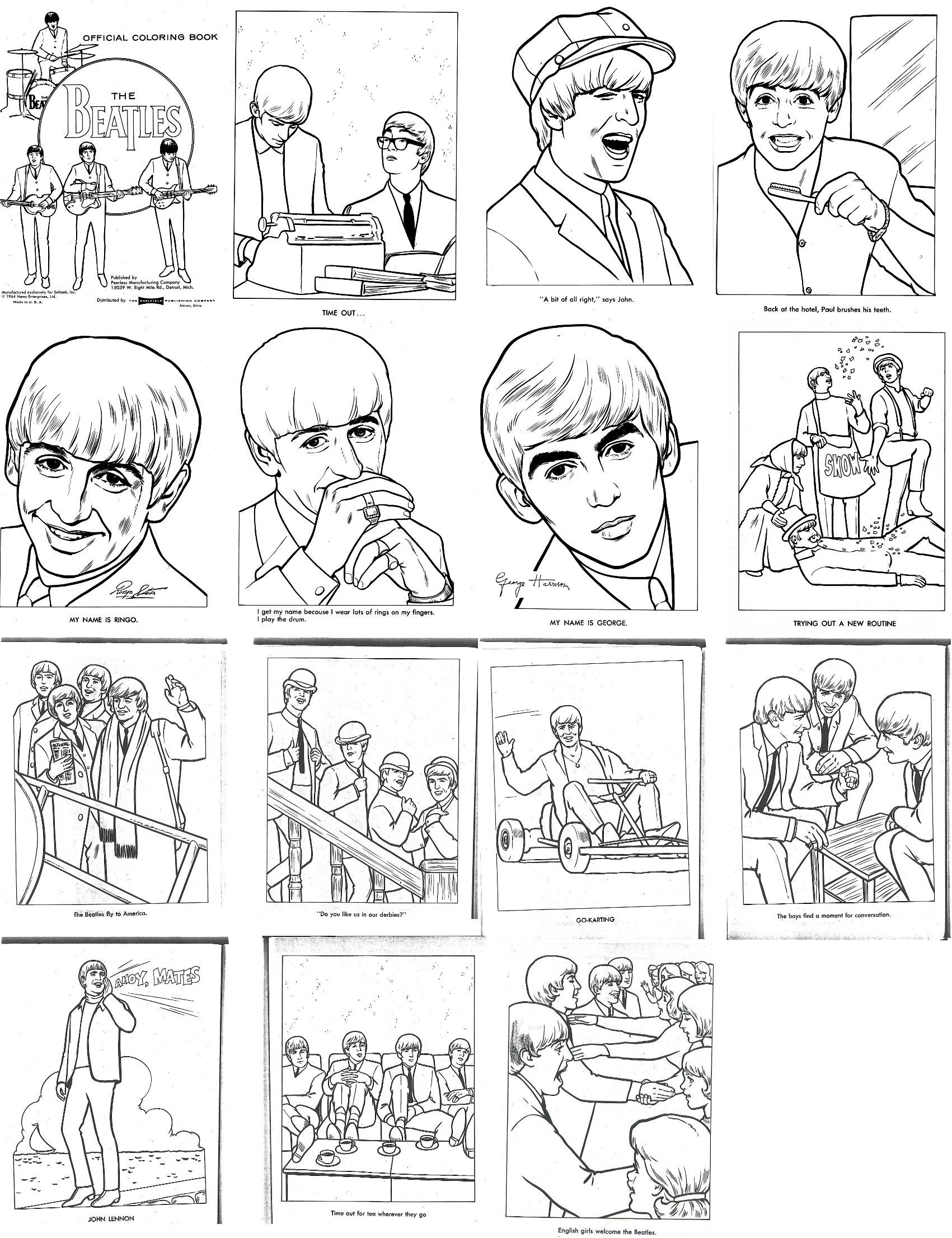 The Beatles Coloring Book From The S Fab