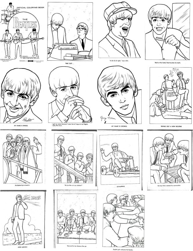 beatles coloring book | Coloring Page for kids
