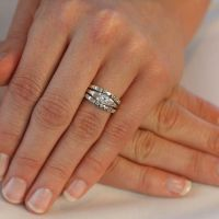 Lily's Faux Diamond CZ Wedding Ring Set - Only $83.95 ...
