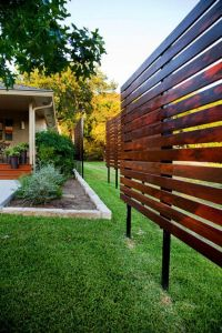 Dawn Hearn constructing wood free standing outdoor screen ...