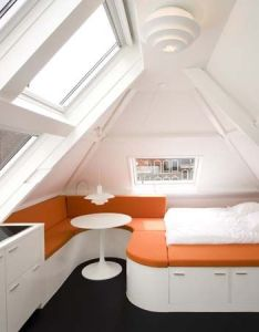Small loft apartment  beautiful design from queeste architecten bedroom viahouse also tiny apt good cramming of all systems spaces pinterest attic rh