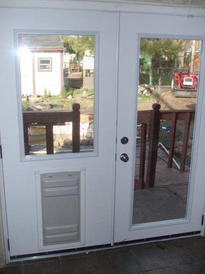 13 Breathtaking Doggie Doors For French Doors Design