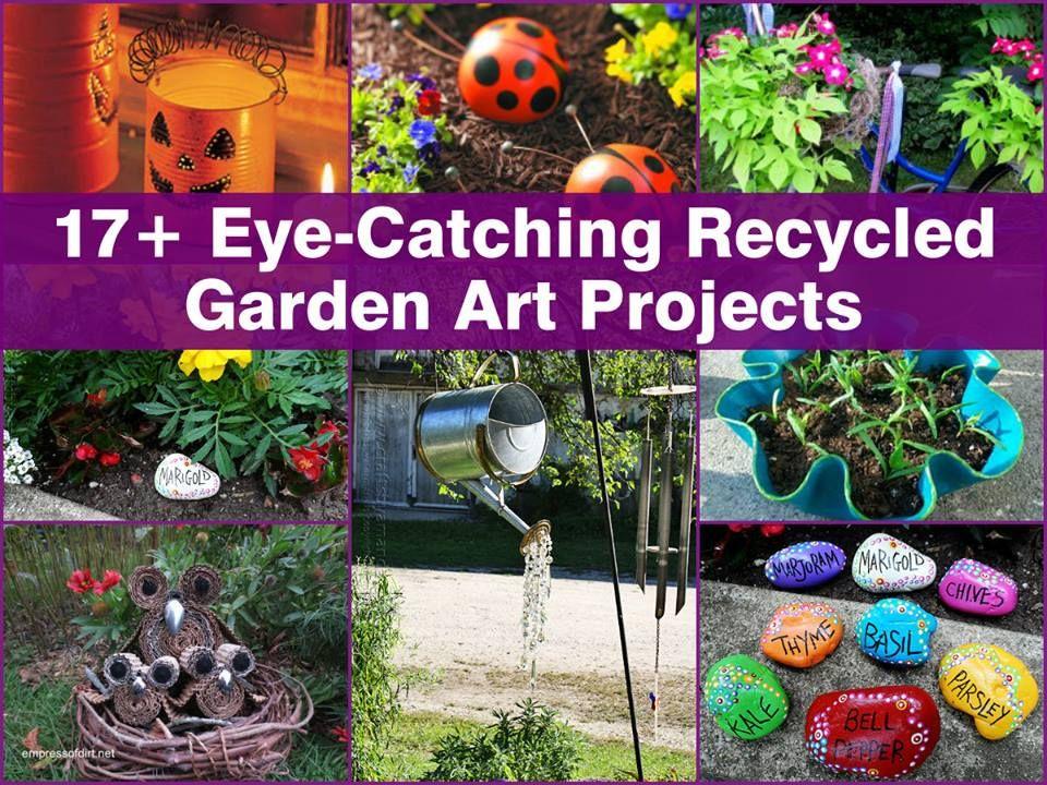 17+ Diy Recycled Garden Art Ideas  Garden Junk