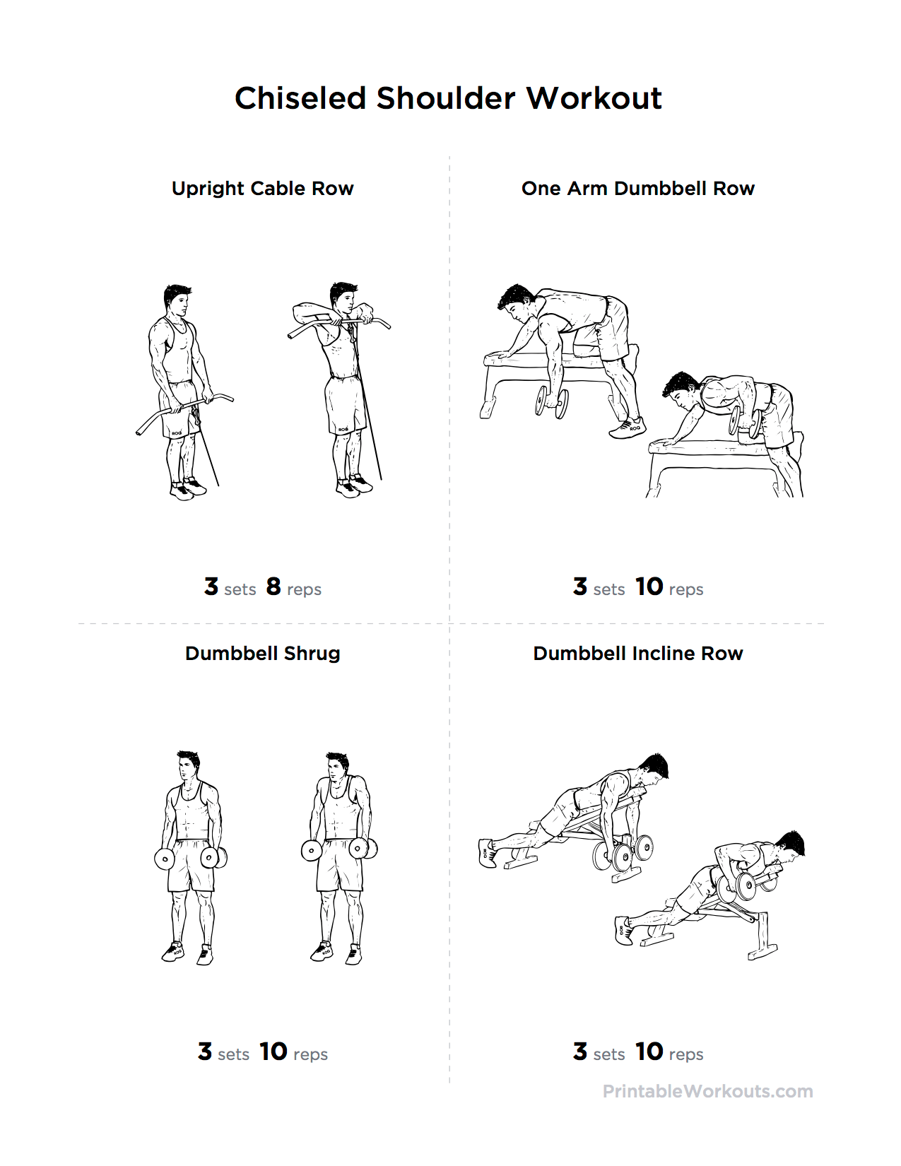 Printable Chiseled Shoulder Workout Create Free Custom Printable Workouts At Workoutlabs