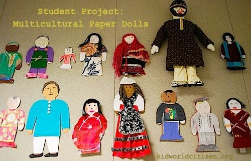 Make Multicultural Paper Dolls Dolls Geography And