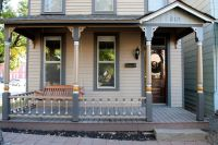 Simple cornice for porch posts. Copy window trim to ...