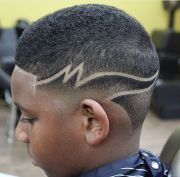 star design in haircuts fade