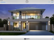 Modern Two-Story House with Balcony