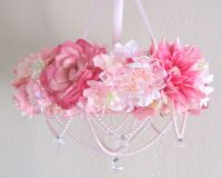 Baby Mobile Flower Crib Mobile Floral Chandelier Shabby ...