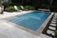Rectangle Swimming Pool Design Built by Aqua Blue Pools ...