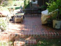 Vintage Patio Design With Bricks Brick Patios