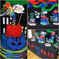 PJ Mask Party, Decoration, Cake, Backdrop, DIY cake ...