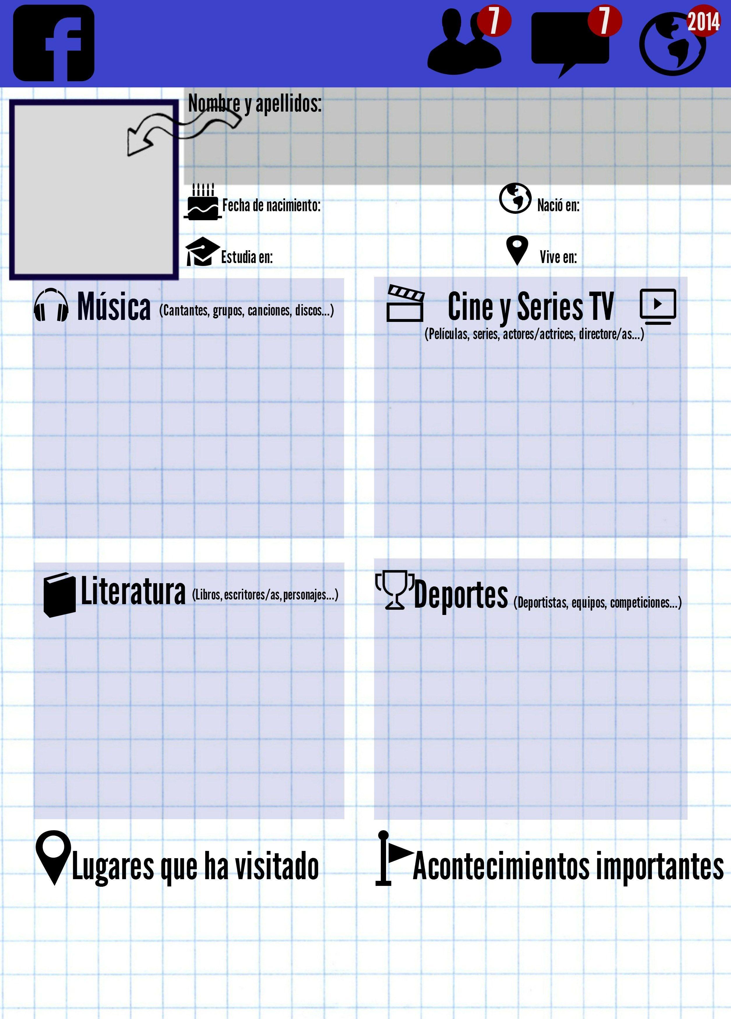 Ficha Que Simula Un Muro De Facebook Para El Primer Dia De Clase Y Para Alumnos A Partir De 14