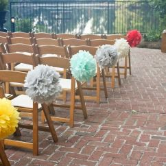 Renting Folding Chairs Girls Computer Chair Diy Pompoms - Cheaper Than Floral Arrangements On Each Aisle Chair...i Would Rent These Same ...