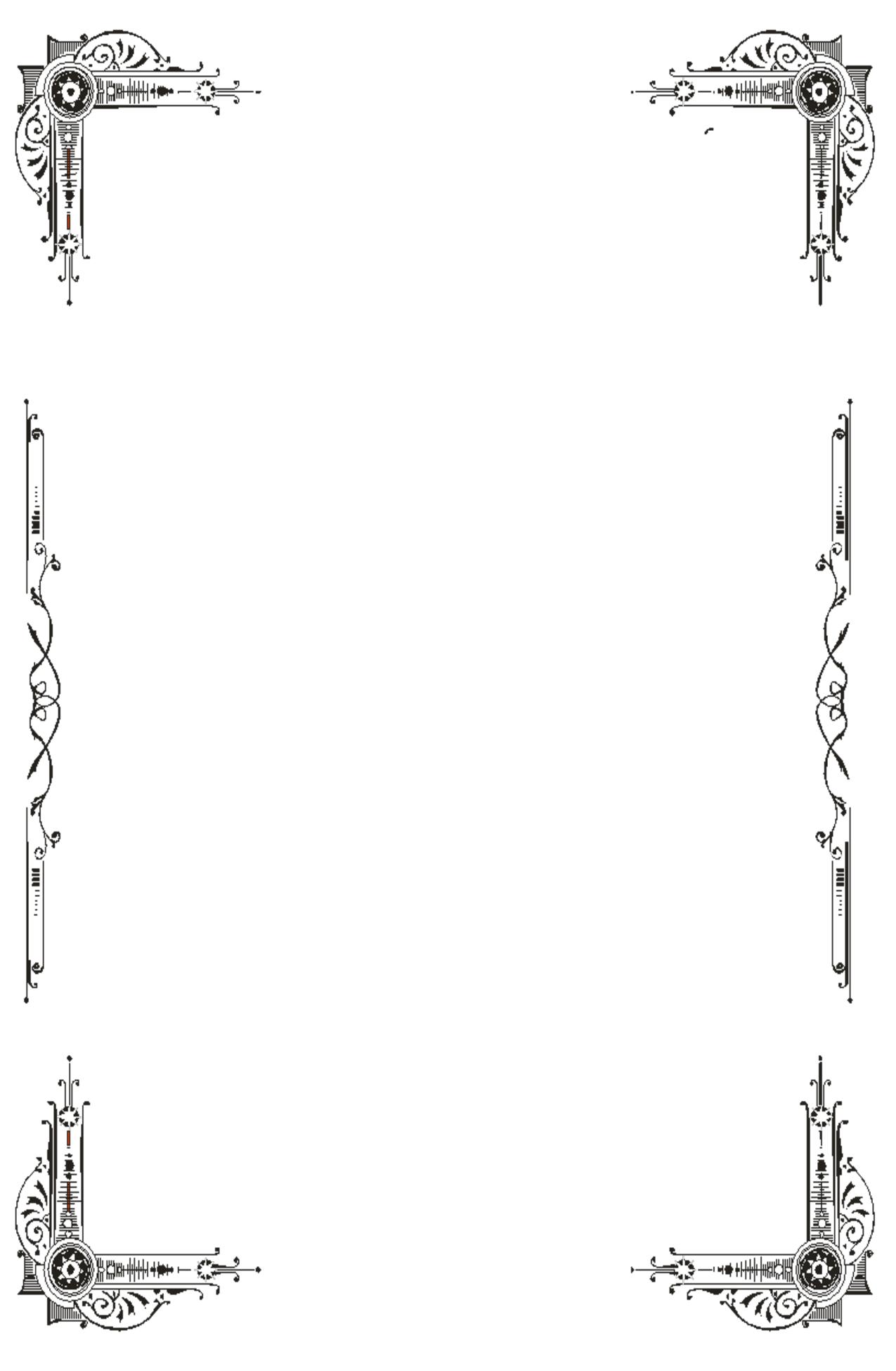 Half Sheet Borders