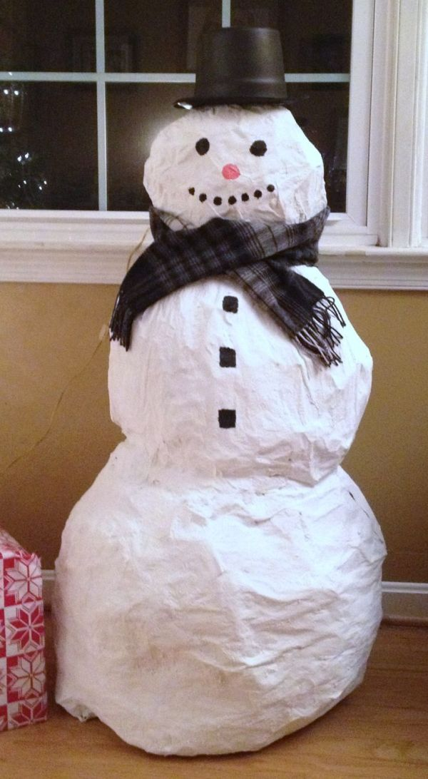 How to make a paper mache snowman Crafting For You