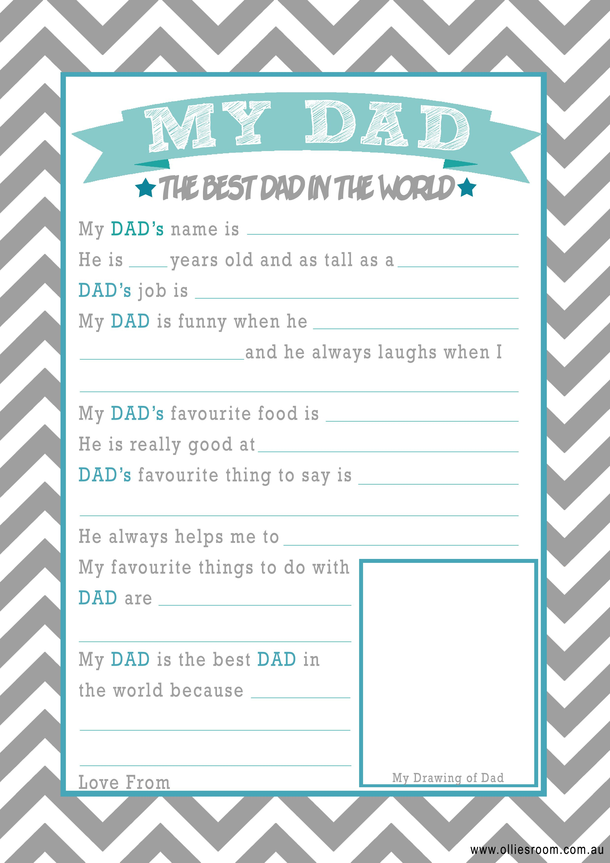 Ollie S Room Free Father S Day Printables