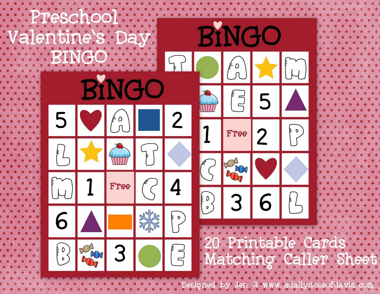 A Daily Dose Of Davis Valentine S Day Bingo Perfect For Preschoolers
