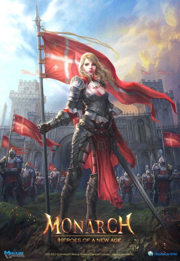 "Pr Illustration ""monarch"" 2d Knight Castle Game Art Fantasy Army"