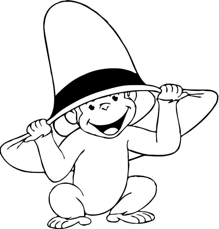 The Curious George Monkey Coloring Page   printable color ...