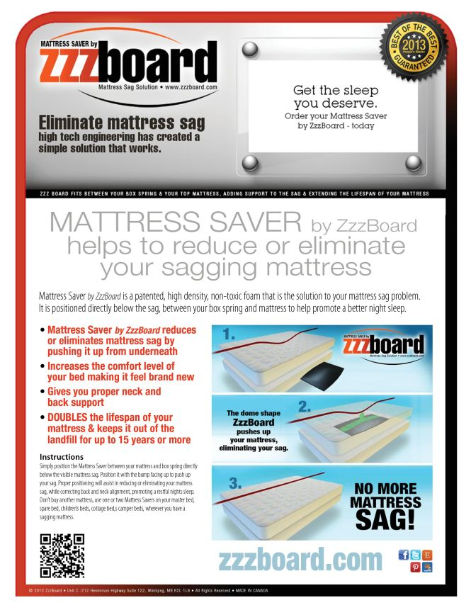 Mattress Saver Because You Deserve A Good Night Sleep The Sag