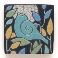 Ceramic Wall Art ,Aqua Turquoise Bird,Ceramic tile ...