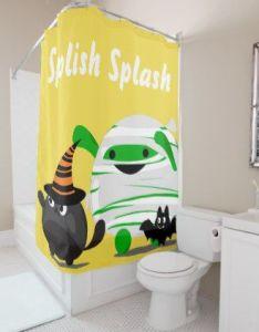 Customizable halloween mochi mummy leader shower curtain curtains home decor custom idea personalize also rh pinterest