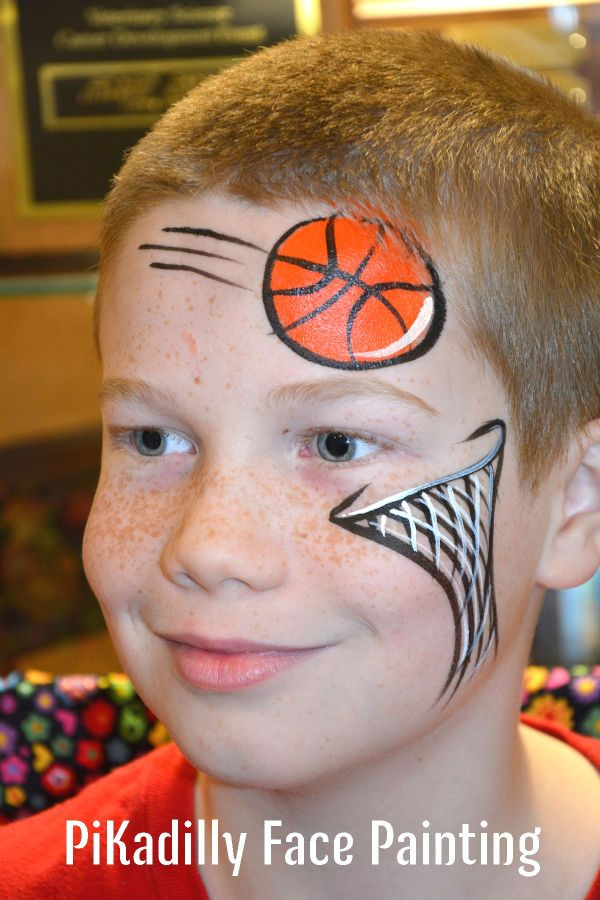 Basketball And Net Design Pikadilly Face Painting