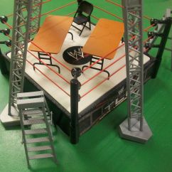 What Are Wwe Chairs Made Of Shower Chair Walgreens Wrestling Ring Tables Ladders Tlc Playset Kmart