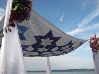 Jewish Wedding Canopy (Chuppah) Ceremony to Heirloom ...