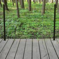 Deco Grid 4 ft. x 6 ft. Steel Black Fence Panel