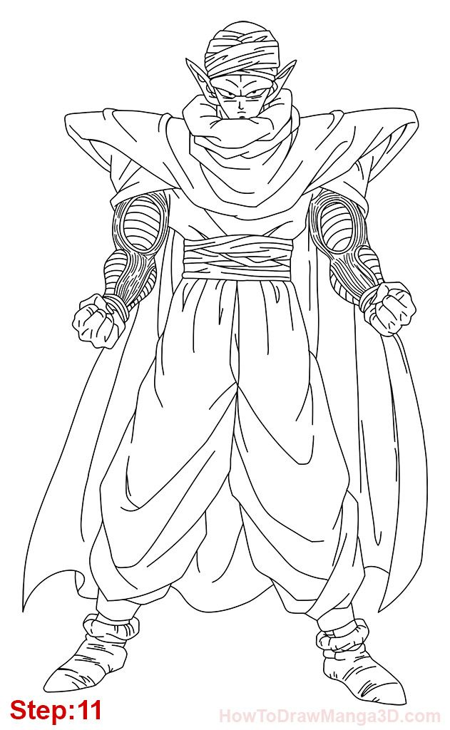 Piccolo Coloring Pages Pictures To Pin