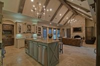 Kitchen & Living Room interior-Hill Country Home. Builder ...