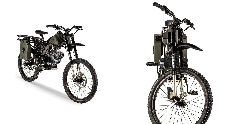 Survival Moped- Heavy duty tires, versatile heavy duty