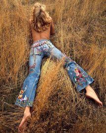 Denim 70s Hippie Fashion