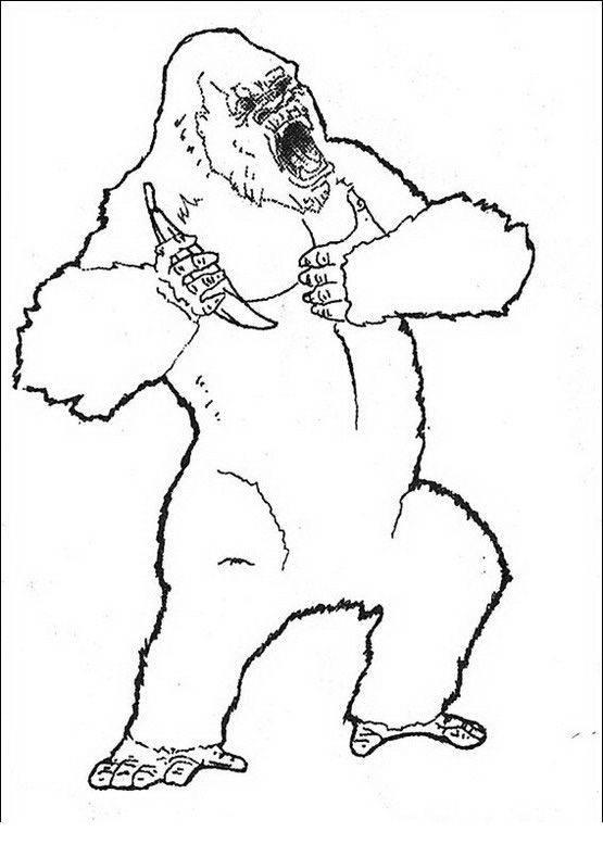 King Kong Coloring pages for kids. Printable. Online