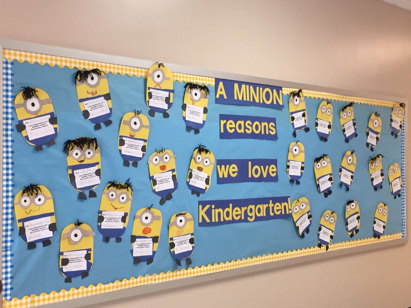 A Minion Reasons We Love Kindergarten Kids Cut Out