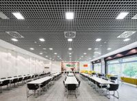 Metal suspended ceiling tile