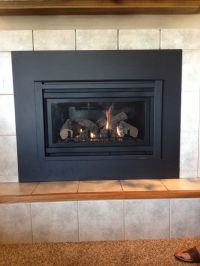 Heat n Glo Supreme I-30 Gas Insert with custom surround ...