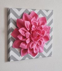 3D Felt Flower Wall Art, Free Guide | Art tutorials ...