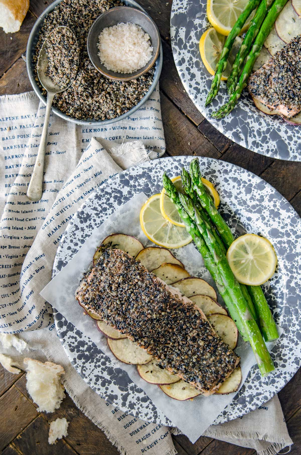 5 ingredient baked dukkah salmon