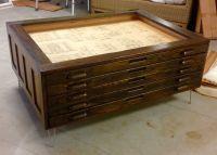 Repurposed vintage Hamilton flat map or blueprint file