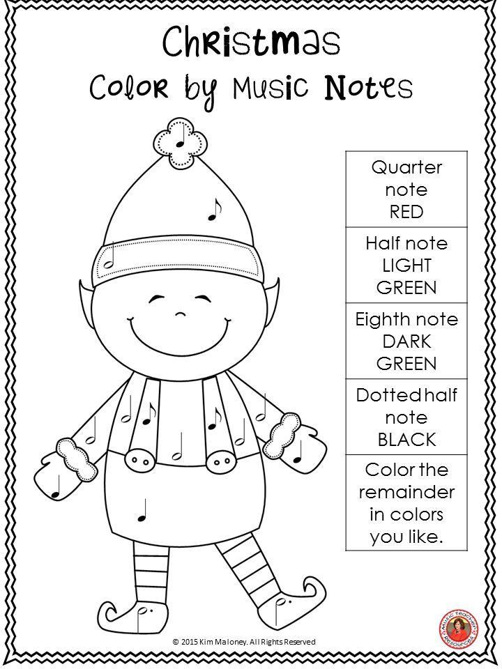 Navidad musical colorear