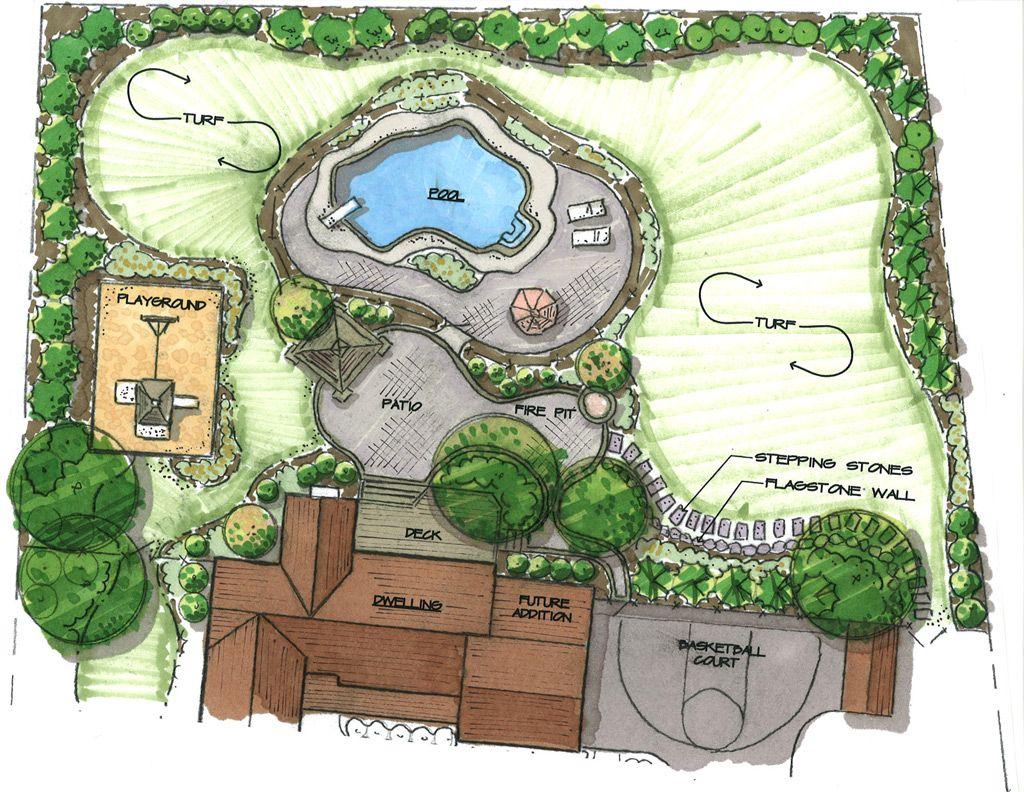 pool plan sketch
