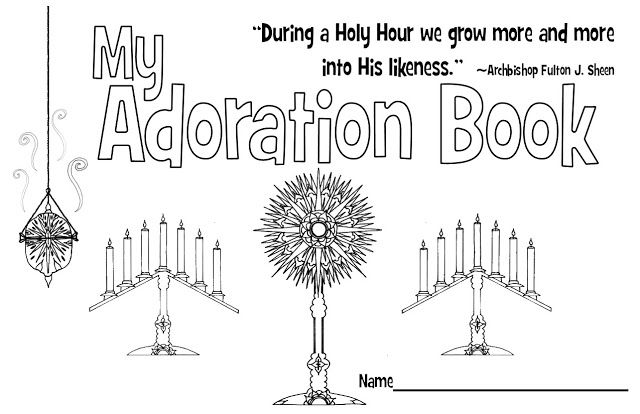 My Adoration Book- Free eight page printable book to help