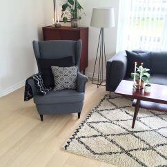 Ikea Reading Chair High Back Fabric Office 39strandmon 39 Armchair Livingonabudgetdk House