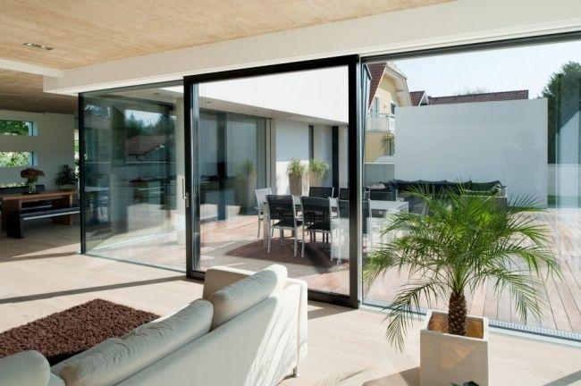 Fenster Türen Ganzglassystem Hersteller Josko Terrasse Alu Rahmen