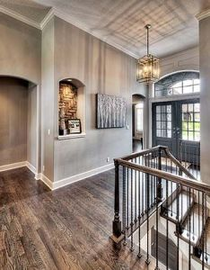 House goals wrought iron staircasefoyer staircasemodel home decoratingentryway also pin by faith mcgrain on someday pinterest future and rh