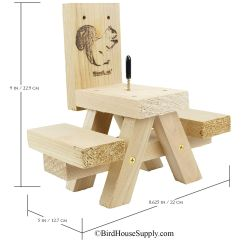 Squirrel Feeder Chair Lexmod Edge Office Drafting Cedar Wood Built With Skill In The Usa